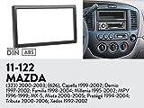 UGAR 11-122 Trim Fascia Car Radio Installation Mounting Kit for MAZDA (323) 2000-2003; (626), Capella 1999-2002; Demio 1997-2002; Familia 1998-2004; Millenia 1995-2002; MPV 1996-1999…