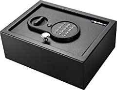 the compact Top Opening Keypad Safe allows it to be concealed in out-of-the-way places while providing enough storage space within to house multiple items.