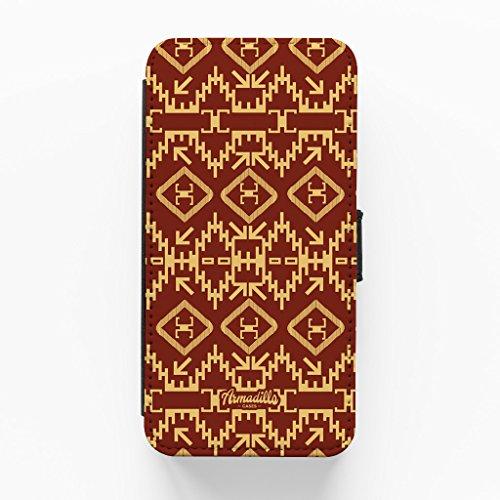 Navajos Olathee Hochwertige PU-Lederimitat Hülle, Schutzhülle Hardcover Flip Case für iPhone 6 Plus / 6 Plus vom Gangtoyz + wird mit KOSTENLOSER klarer Displayschutzfolie geliefert