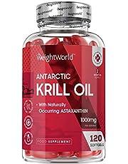 Krill olie softgels - 1000 mg krillolie met astaxanthine - 120 softgel capsules voor 2 maanden voorraad - Bevat 220 mg Omega 3 vetzuren - Niet-GMO en glutenvrij