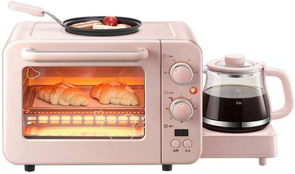 NLYR-Foldable Storage Toaster Oven,3 in 1 Breakfast Machine Station,Can Be Used to Heat Milk,Fried Eggs,Making Bread