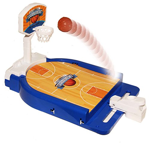 Hoop Game Table (Mini Basketball Table Game - Desktop Arcade Hoops Slap Shot Miniature Game for Ages 3 and Up | Classic Mini Basketball Tournament Table Top Games for Sports Fans and Fanatics)