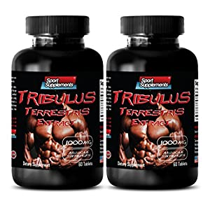 Testosterone for men sex long and strong – TRIBULUS TERRESTRIS EXTRACT 1000MG – MUSCLE STRENGTH – Tribulus testosterone boost – 2 Bottles 120 Tablets