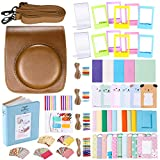Neewer 56-in-1 Accessory Kit for Fujifilm Instax Mini 70 (Brown),Includes: Camera Case with Adjustable Strap, Various Frames, Book Album, Color Filters, Corner Stickers, Photo Instant Film Stickers