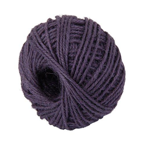 Vi.yo 50M Handmade DIY Hemp Rope Wrap Gift Environmental Color Twine Rope Cord String Ball Crafts(Dark - Wrap Ball Gift