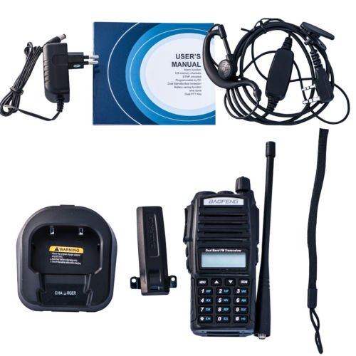 Negro LanLan UV-82 Transmisor de radio bidireccional de dos v/ías 136-174 MHz VHF y 400-520 MHz UHF