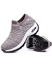 Hypersoft Women Sneakers Running Shoes, Slip On Breathe Mesh Walking Shoes