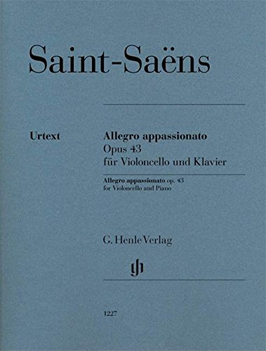 Allegro appassionato - op. 43 - cello and piano - with marked and unmarked string part - (HN 1227) (English, German and French - Music Allegro Book