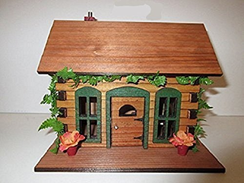 stic Log Cabin OOAK Fairy Garden Accessory (Miniature Log Furniture)