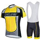 Sponeed Bicycle Bike Jersey Bib shorts Cycling men Jacket Legend Size XXL US Yellow