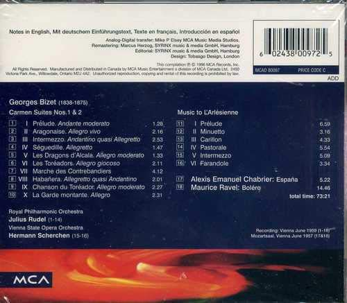 Bolero-Carmen-España: Ravel, Bizet: Amazon.es: Música