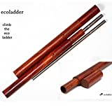 Ecoladder Reusable Straw Carrying Case, Handcrafted Rosewood, Pack of 2