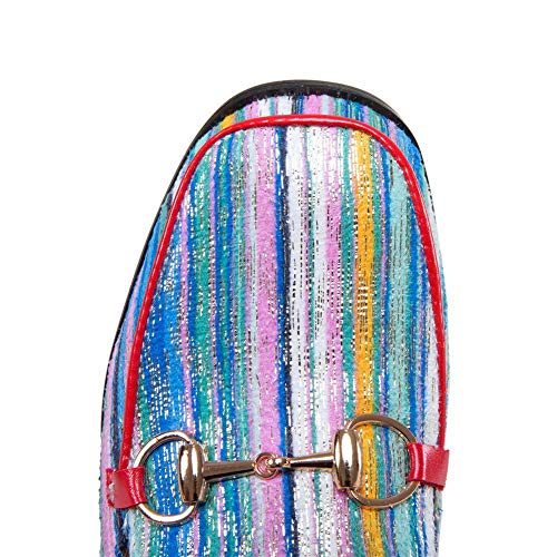 uretano Costuras ASL05602 BalaMasa Mujer de de Azul Varios Colores Sandalias Rayas xqw4Og