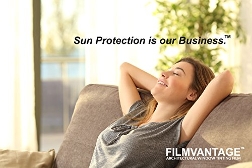 SunJoy 20 Home Commercial Window Tint Film Solar UV Glare Heat Control Privacy - 40 Inch By 10 Feet by The Black Box Tint (Image #2)