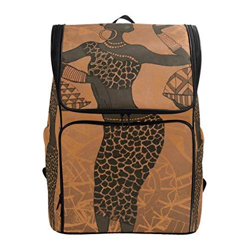 (Laptop Backpack Black African Woman Sprot Backpack for Women Big Rucksack)