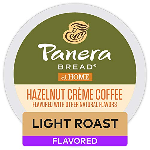 Panera Bread Coffee Hazelnut Crème, Single Serve Coffee K Cup Pods for Keurig Brewers, Flavored Light Roast, 32Count