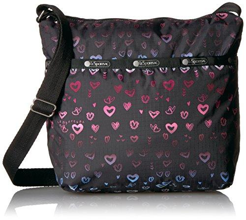 LeSportsac Classic Small Cleo Crossbody Hobo,Heartbeat,One Size (Bag Hobo Classic Signature)