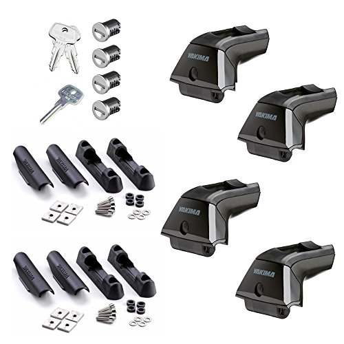 Truck Upfitters' NEW Yakima Streamline Rack Kit for track mounted racks - 4 Skyline Towers, 4 Landing Pads #1, 4 SKS Core Locks, & 2 Keys. Crossbars and Tracks required (Landing Pad Cover)