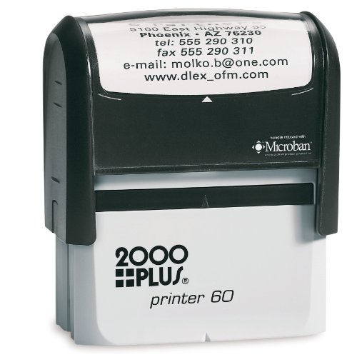 Cosco 2000 Plus Printer 60 Largest self-inking stamp. Up to 8 lines.This Stamp is perfect for bank endorsement, return address or custom message stamps self inking ()