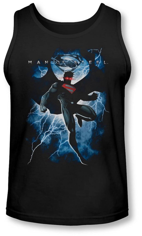 Man Of Steel - Mens Steel Lightning Tank-Top