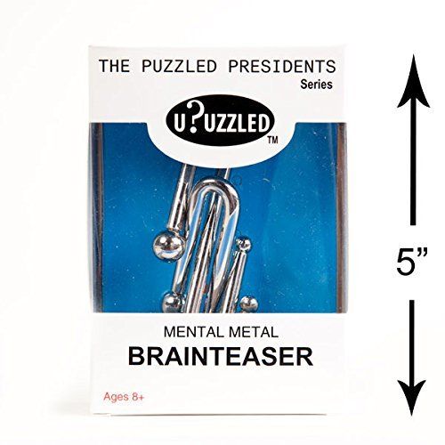 Large Metal Puzzle 4-Pack Mental Brainteaser #1 by uPuzzled Puzzles Monthly