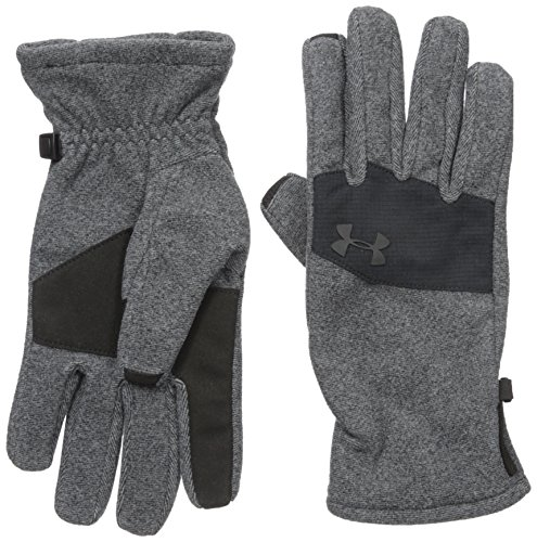 Under Armour Men's Survivor Fleece 2.0 Gloves, Black (001)/Black, (Fleece Mens Glove)