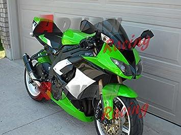Moto Onfire Fairing Kits For 2008 2009 2010 Kawasaki Ninja ZX10R ZX-10R ZX 10R ABS Injection Mold - Green