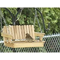 Poplar wood Porch Swing Bird Feeder Audubon Free US Shipping Unique Bird Feeder