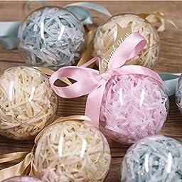 Naice 80mm DIY Round Bath Bomb Mold Plastic Balls, Clear (12-Pack)