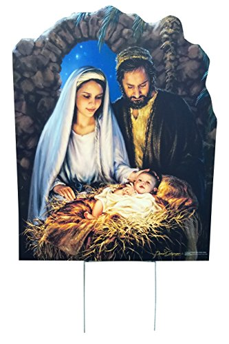 Advanced Graphics Christmas Nativity (Dona Gelsinger) Outdoor Life Size Standup Yard Sign - for Outdoor Use (Scenes Outside Sale For Nativity)