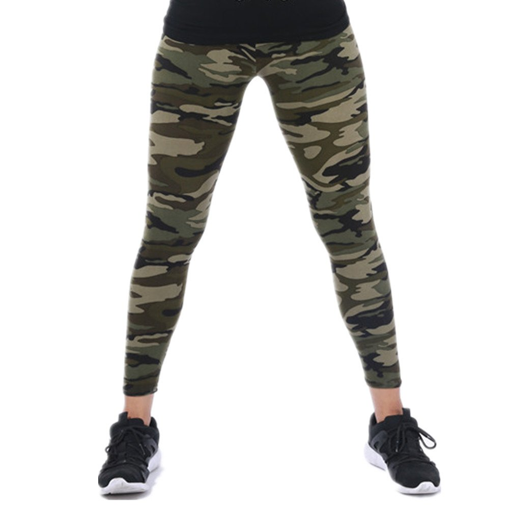 afa57d5665489f Tamskyt Womens Ultra Soft High Waist Printed Camo Leggings (Army Green) at  Amazon Women's Clothing store: