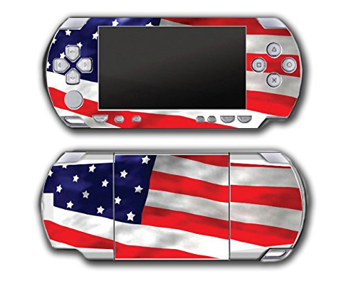 - American Flag Patriotic Design Video Game Vinyl Decal Skin Sticker Cover for Sony PSP Playstation Portable Original Fat 1000 Series System