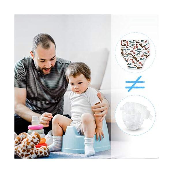 Lictin 4 Pezzi Mutandine di Apprendimento - 2 Pezzi Pannolini riutilizzabili con Pantaloni da Allenamento vasino a 7… 7