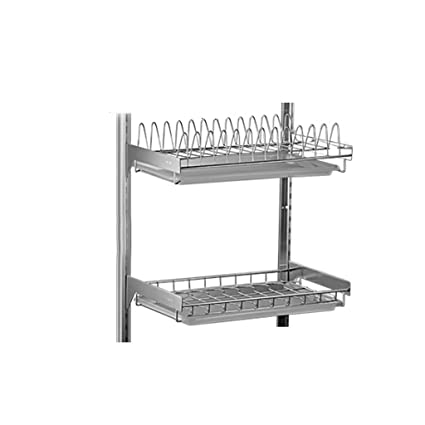 GAOYANG Kitchen Dishwasher Drying Rack Wall-mounted Punch-free Dish Rack Stainless Steel Drain
