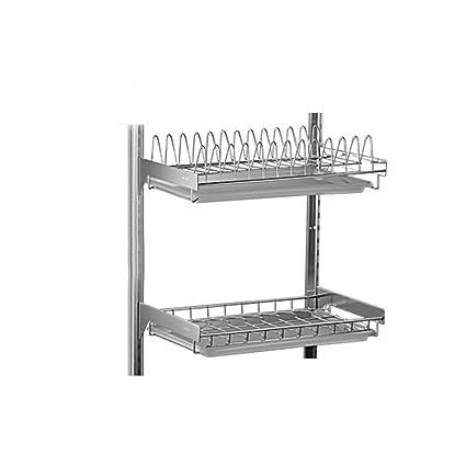 GAOYANG Kitchen Dishwasher Drying Rack Wall-mounted Punch-free Dish Rack Stainless Steel Drain