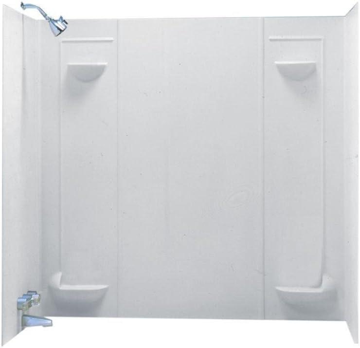 Swanstone TF57000.010 Veritek Glue-up 5-Panel Bathtub Wall Kit, 30-in L X 60-in H X 57-in H, White
