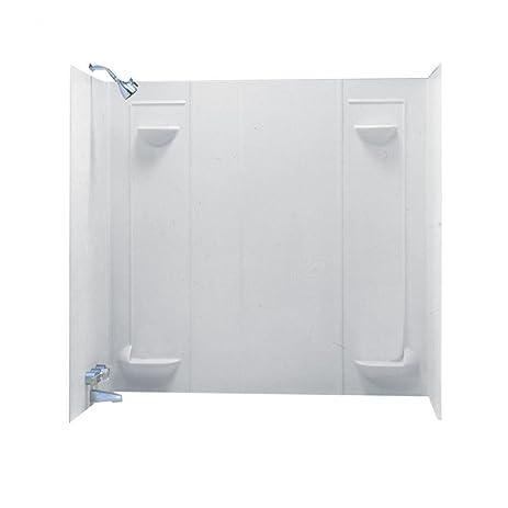 Swanstone TF-57-010 Veritek Five Panel Tub Wall Kit, White Finish ...