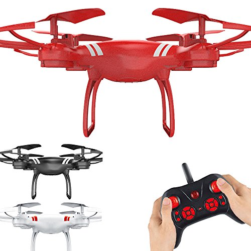 Remote Control Quadcopter New KY101 2.4Ghz 6-Axis UAV Quadcopter Drone RC Hover RTF Without Camera,Toys Outdoor Racing Controllers Helicopters Drone 4 Channnel For Beginner Adults Kids Large (red)