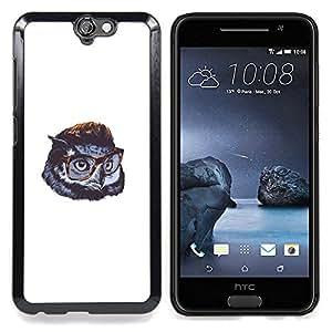 - Cute Gentleman Owl - - Cubierta del caso de impacto con el patr??n Art Designs FOR HTC ONE A9 Queen Pattern