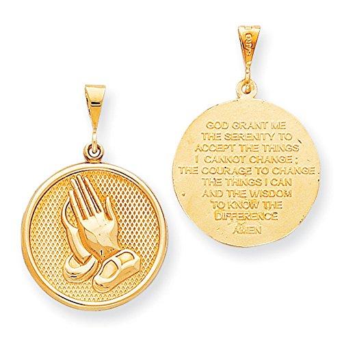 10 K en prière de prière de sérénité-réversible-OR de haute qualité en or 9 carats