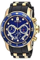 Invicta Men's 'Pro Diver' Quartz Stainless Steel and Silicone Watch, Color:Black (Model: 21929)