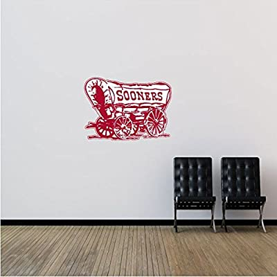 "Oklahoma Sooners NCAA USA Coach Logo College Sport Art Wall Decor Sticker 25"" x 18"""