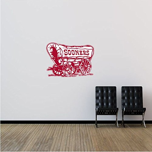 Oklahoma Sooners NCAA USA Coach Logo College Sport Art Wall Decor Sticker 25'' x 18''