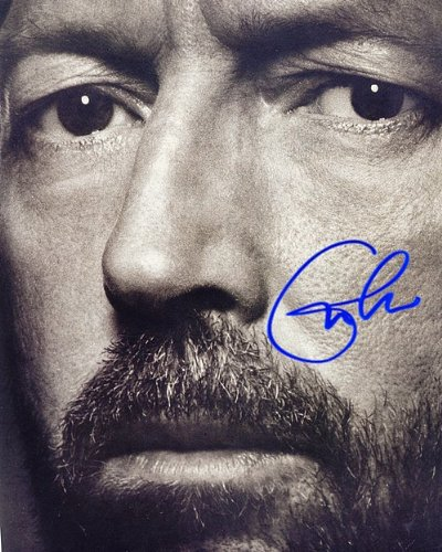 Clapton Eric Bw Autographed Preprint Signed 11x14 Poster Photo