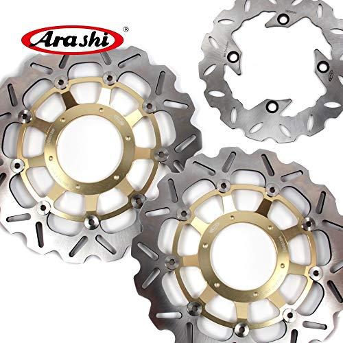 (Arashi Front Rear Brake Disc Rotors for HONDA CBR600RR 2003-2015 Motorcycle Replacement Accessories CBR 600 RR CBR600 600RR 2010 2011 2012 2013 2014 Gold CBR1000RR 04-05)