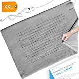 XXL Heating Pad - Electric Heating Pad for Moist and Dry Heat Therapy - Fast Neck/Shoulder / Back Pain Relief at Home - Soft Gray (18'' x 26''), GENIANI