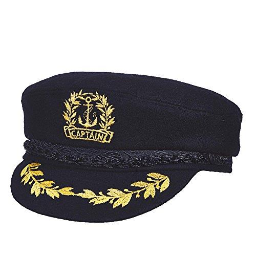 Aegean Men's Captain Wool Admiral Cap 7 5/8 (Aegean Wool Cap)