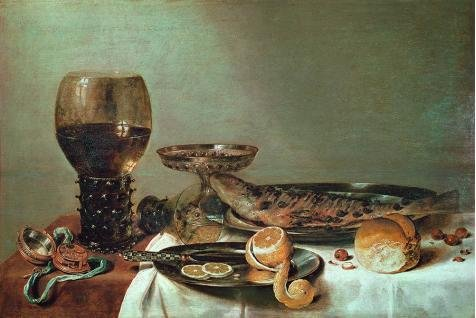 High Quality Polyster Canvas ,the Vivid Art Decorative Prints On Canvas Of Oil Painting 'Willem Claesz Heda,Still Life With A Roemer And Watch,about 1640', 8x12 Inch / 20x30 Cm Is Best For Gym Artwork And Home Decoration And Gifts