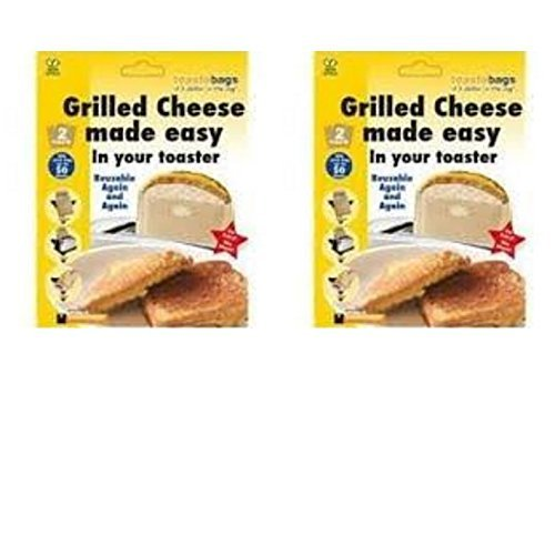 No mess Grilled Cheese Toast a bag for your toaster 2 Pack of 2 Reusable by Unknown