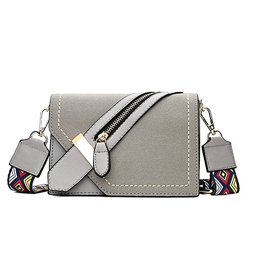 Meaeo New Wide Diagonal Square Shoulder Bag Brown Bag Small Square Wild Gray